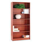 "Hon Laminate Bookcase with Square Edge, 6 Shelf, 36""x72 5/8"", Henna Cherry"