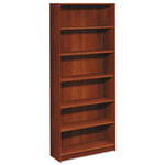 Hon 1870 Series Bookcase, Six Shelf, 36w x 11 1/2d x 84h, Cognac