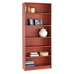 "Hon Laminate Bookcase with Square Edge, 6 Shelf, 36""x84"", Henna Cherry"