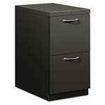 Hon Flagship Mobile File/File Pedestal, Arch Pull, 22-7/8d, Charcoal