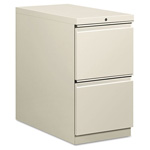 Hon Flagship Mobile File/File Pedestal, Full Radius Pull, 28-7/8d, Light Gray