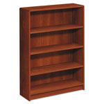 Hon 1890 Series Bookcase, Four Shelf, 36w x 11 1/2d x 48 3/4h, Cognac