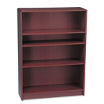 "Hon Laminate Bookcase with Radius Edge, 4 Shelf, 36""x48 3/4"", Mahogany"
