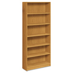 Hon 1890 Series Bookcase, Six-Shelf, 36w x 11-1/2d x 84h, Harvest