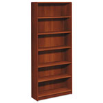 Hon 1890 Series Bookcase, Six Shelf, 36w x 11 1/2d x 84h, Cognac