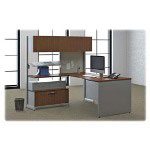 "Hon Vicinity Lateral File, 2-Drawer, 36"" x 18"" x 12-3/4"", Platinum/Shaker Cherry"