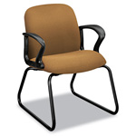 Hon Gamut Series Sled Base Guest Chair, Caramel