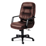 Hon Leather 2090 Pillow Soft Series Executive High Back Swivel/Tilt Chair, Burgundy