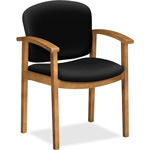 "Hon Fixed Arms Guest Chair, 23-1/2"" x 22"" x 33-1/8"", Black"