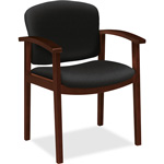 "Hon Guest Chair, Single Rail, 23-1/2"" x 22"" x 33-1/8"", Black"