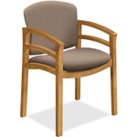 "Hon Wood Guest Chair, Dbl Rail Arms, 23-1/2"" x 22"" x 33-1/8"", Morel"