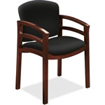 "Hon Guest Chair Fixd Arms, 23-1/2"" x 22"" x 33-1/8"", Black"