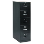 "Hon 210 Series 28 1/2"" Deep Full Suspension File, Five Drawer, Legal, Black"