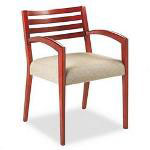 Hon Cambia 2160 Series Arch Arm Reception Chair, Oatmeal, Henna Cherry Finish
