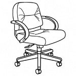 Hon Claret Series Mid Back Swivel Task Chair, Gray