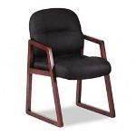 Hon 2190 Pillow-Soft Wood Series Guest Arm Chair, Mahogany/Tectonic Black