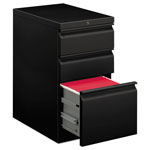Hon Efficiencies Mobile Pedestal File, One File/Two Box Drawers, 22-7/8d, Black