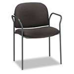 Hon Multipurpose Stacking Arm Chairs, Olefin Fabric, Black, 2/Carton