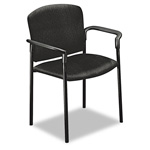 Hon Black Tectonic Fabric Pagoda 4070 Series Stacking Arm Chairs