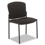 Hon Pagoda 4070 Series Armless Stacking Chair, Black