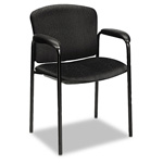 "Hon Tiempo 4600 Series Guest Chair with Arms, 24-3/4"" x 22 1/2"" x 33"", Black"