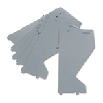 Hon Lateral File Shelf Dividers, Gray