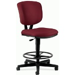 Hon Volt Series Adjustable Task Stool, 27w x 29-1/2d x 49-7/8h, Burgundy Fabric