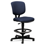 Hon Volt Series Adjustable Task Stool, 27w x 29-1/2d x 49-7/8h, Navy Fabric