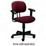 Hon ValuTask Series Swivel Task Chair, Stain Resistant Burgundy Fabric