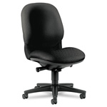 Hon Sensible Seating 6000 Series Armless High Back Executive Swivel Task Chair, Black