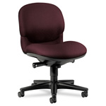 Hon Sensible Seating 6000 Series Armless Mid Back Swivel Task Chair, Dark Red