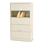 "Hon 600 Series File Shelf, 36"", 5 Shelves, Letter Size, Beige"