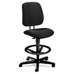 Hon 7700 Series Swivel Task Stool, Olefin Fabric, Black