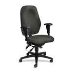 Hon High Performance High Back Task Chair, Gray Seat/Black Frame