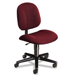 Hon Every Day Series Swivel Task Chair, Stain Resistant Burgundy Fabric