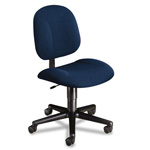 Hon Every Day Series Swivel Task Chair, Stain Resistant Blue Fabric