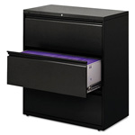 "Hon Locking 3 Drawer Metal Lateral File Cabinet, 36""x19.25""x40-7/8"", Black"