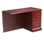 "Hon 94000 Series ""L"" Workstation Right Return, Mahogany, 48w x 24d"