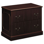 Hon 94000 Series Two Drawer Lateral File, Mahogany, 37 1/2w x 20 1/2d x 29 1/2h