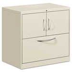 Hon Flagship 3 Drawer Metal Lateral File Cabinet, 30x18x28, Gray