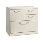 Hon Flagship 4 Drawer Metal Lateral File Cabinet, 30x18x28, Gray