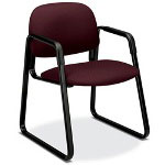 Hon 4000 Solutions Series Guest Arm Chair, Sled Base, Wine