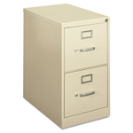 Hon H410 Series Two-Drawer Locking Vertical File, 15w x 22d x 26-1/16h, Putty