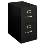 Hon H410 Series Two-Drawer Locking Vertical File, 15w x 22d x 26-1/16h, Black