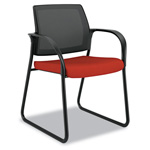 Hon Ignition Series Mesh Back Guest Chair with Sled Base, Poppy