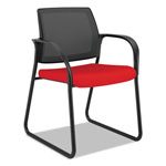 Hon Ignition 2.0 Ilira-Stretch Mesh Back Guest Chair, Sled Base, Ruby Fabric