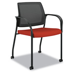 Hon Ignition Series Mesh Back Mobile Stacking Chair, Poppy