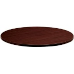"Hon Laminate Round Table Top, 42"" Diameter, Mahogany"