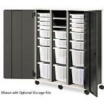Hon SmartLink Full Height Storage Cabinet w/ Doors, Three Column, Charcoal/Platinum