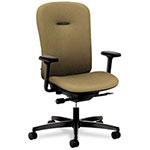 Hon Mirus Series Mid Back Swivel Task Chair, Beige Fabric